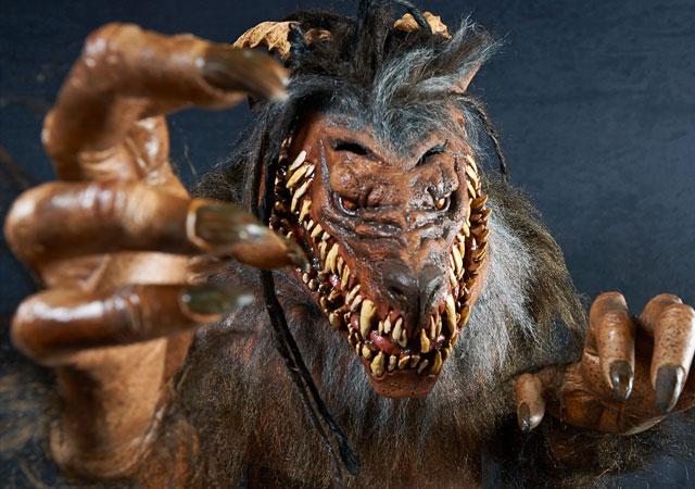 Snarling werewolf halloween costume