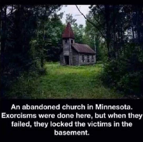 Abandoned church in Minnesota where exorcisms happened