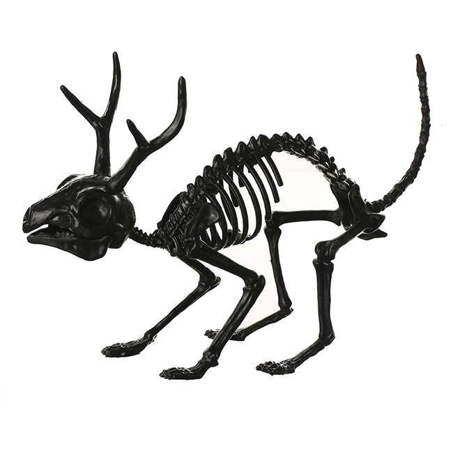Jackalope skeleton Halloween decor