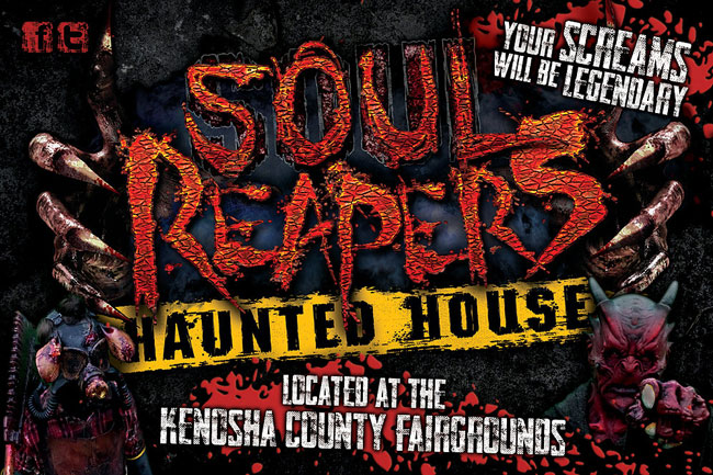 Soul Reapers haunted house at the Kenosha County fairgrounds in Wilmot, WI