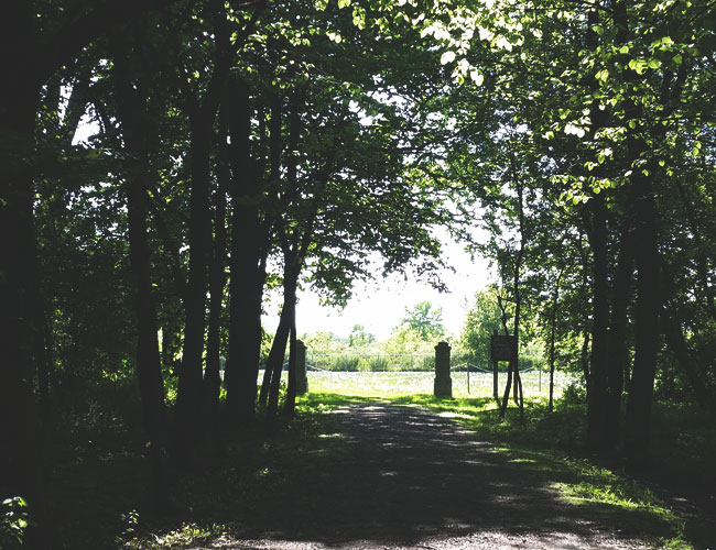 Entrance to the Winnebago Mental Health Institute cemetery