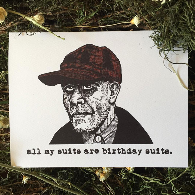 Ed Gein birthday card