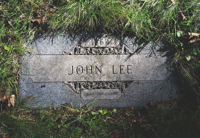 The grave of John Babbacombe Lee in Milwaukee