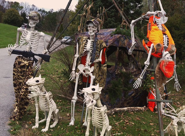 Holy Hill Skeletons Halloween display