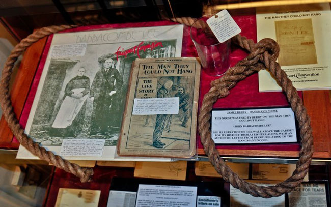 The noose used to hang John Babbacombe Lee